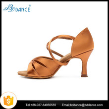 Wholesale Competitive Price Dark Tan Color Dancing Shoes with High Quality Model 2363