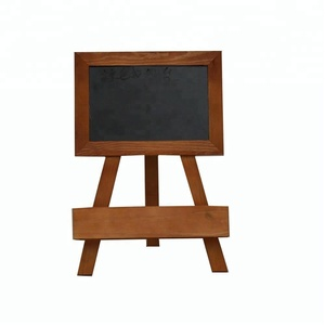 Home decoration pine folding wooden blackboard with stand