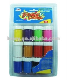 12 Deluxe Finger Paint Art Set /Ages 3 and Up