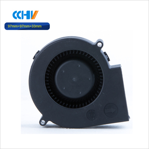 dual ball bearing high quality silent fan blower with connector 9733mm
