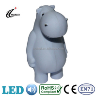 Hippo Sound LED Animal Keychain Light Toy