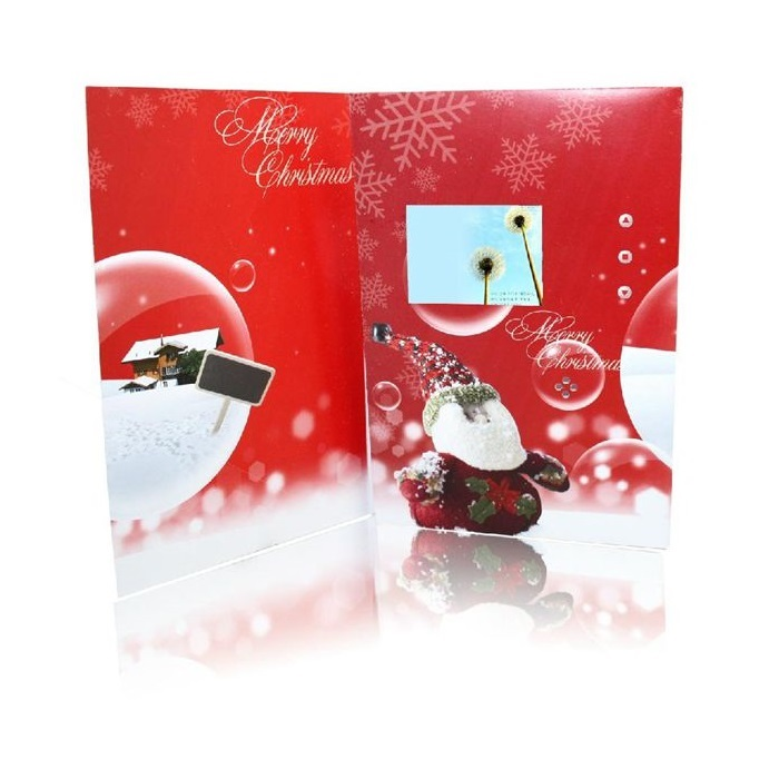 Atacado papel digital photo frame 2.4 polegadas LCD painel vídeo da música bênção cartão álbum de vídeo brochura que anuncia o jogador