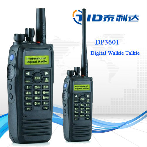 Hight keluaran walkie-talkie DP3601 DMR digital gps genggam cara tow radio