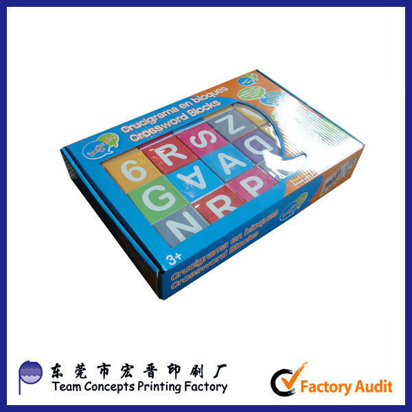custom children educational toy paper cube block puzzle