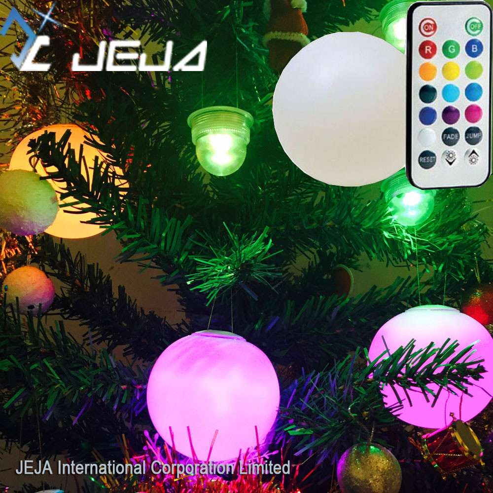 Christmas Decoration Remote Control Waterproof Ball Orbs Sphere Led Light