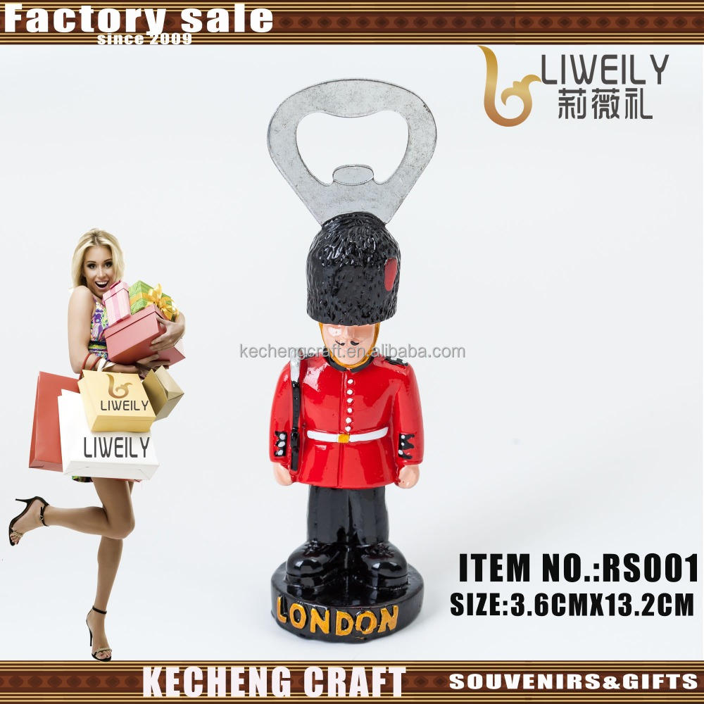 Hot sale Custom size factory direclty supply Resign Royal Guardsman Bottle Opener Magnet