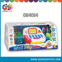 2015 B/O new designed plastic toy New Learning Resources Pretend & Play Toy Calculator Cash Cashier Register for Kids Chenghai