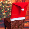 Hot gift 2016 New year Santa Red Hat dining Chair Covers Christmas Decorations Dinner