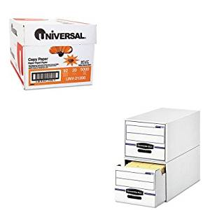 KITFEL00721UNV21200 - Value Kit - Bankers Box Stor/Drawer File Drawer Storage Box (FEL00721) and Universal Copy Paper (UNV21200)