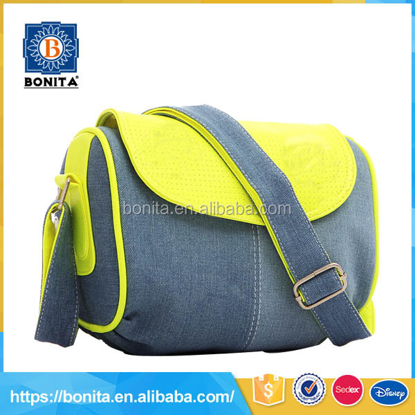 jeans yellow cool shoulder bags