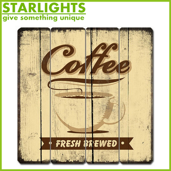 lightweight square wall plaques decoration with coffee picture