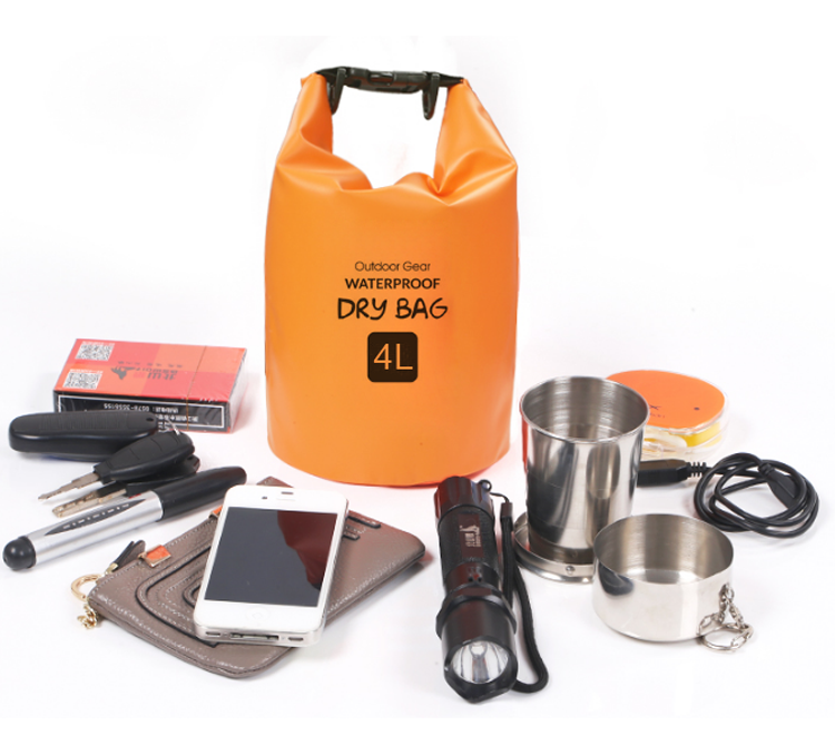Promotionele 5L volume waterdichte outdoor camping container dry bag