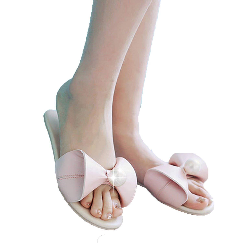 498db00a7 Get Quotations · Sky-Pegasus Women Flat Slippers Summer Beach Flats Slip On  Sandals Fashion Slides Women Pearl