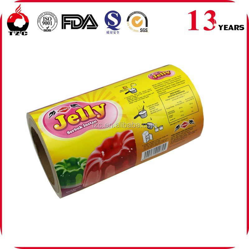 SGS Approved Customized jelly cup food packaging film