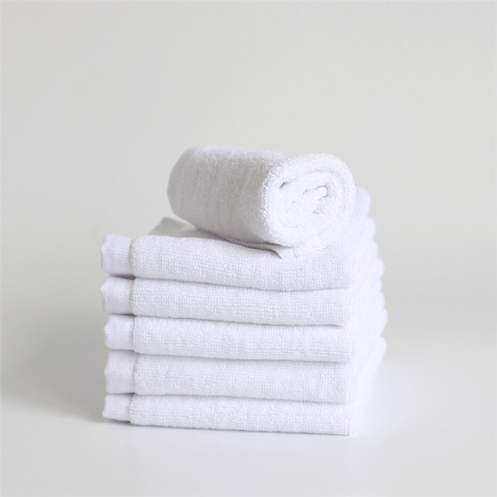 100%Cotton White Washcloth For Hotel, Face Towel 12''x12''