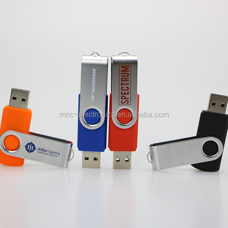 High quality usb 3.0 interface metal material swivel type customized logo printing 8GB usb flash key