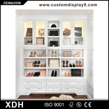 China Manufacturer White Bag Display Cabinet Las Handbag Showcase