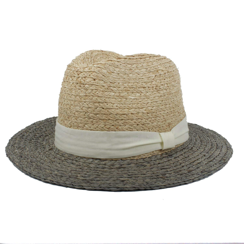 d6b2a3591bd1d Get Quotations · Fashion Hat 100% Raffia Straw Mix-Colour Sun Hat for Women  Raffia Straw Beach
