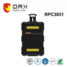 Hot Selling hard wheels and handle large Plastic Waterproof Carry Case for trade show and exhibitions