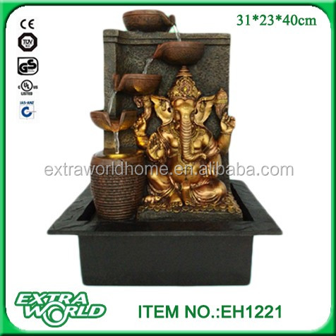 Indoor Tabletop Indian God Ganesh Water Fall Fountain With Rolling Crystal Ball Buy Indoor