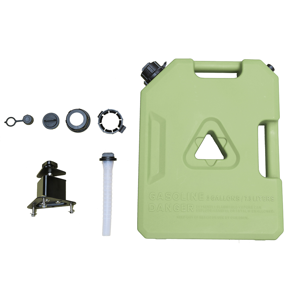 10 liter green plastic oil jerry can with flexible spout