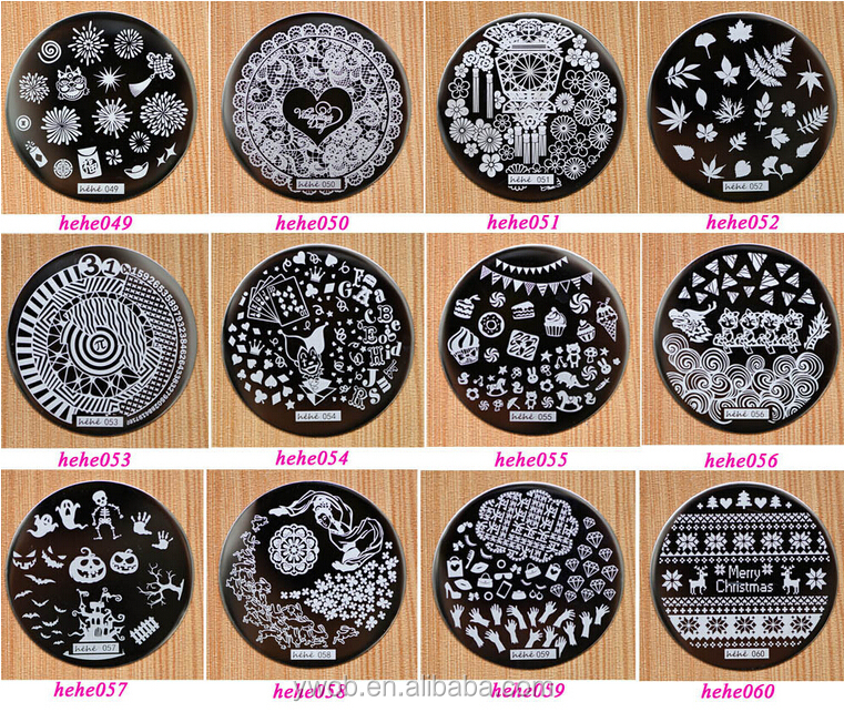 2015 New Arrival Hehe Series Fashion Stamping Templates Small Round ...