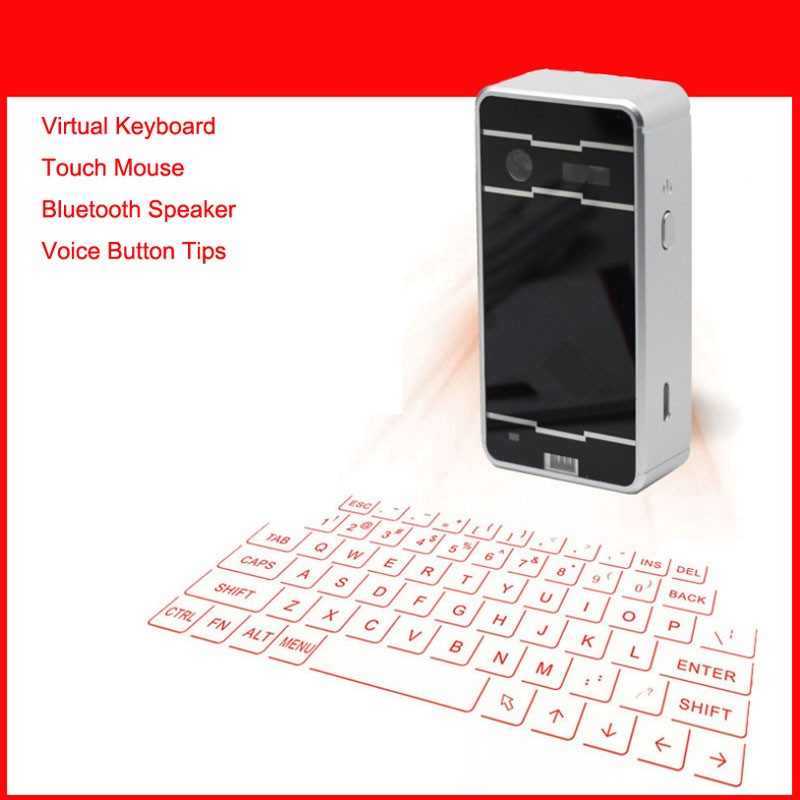 Wireless Virtual Laser Keyboard Bluetooth Keyboard for iPhone for Samsung for Microsoft OS for Mac