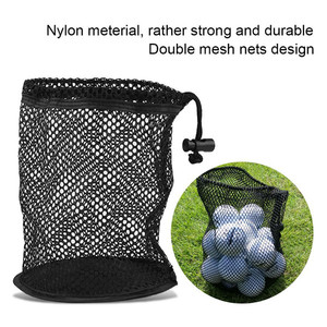 Hot Sale Golf Tee Bags Golf Ball Bag with Mesh Nets Nylon Storage Holder Golf Pouch Poke Balls Collector