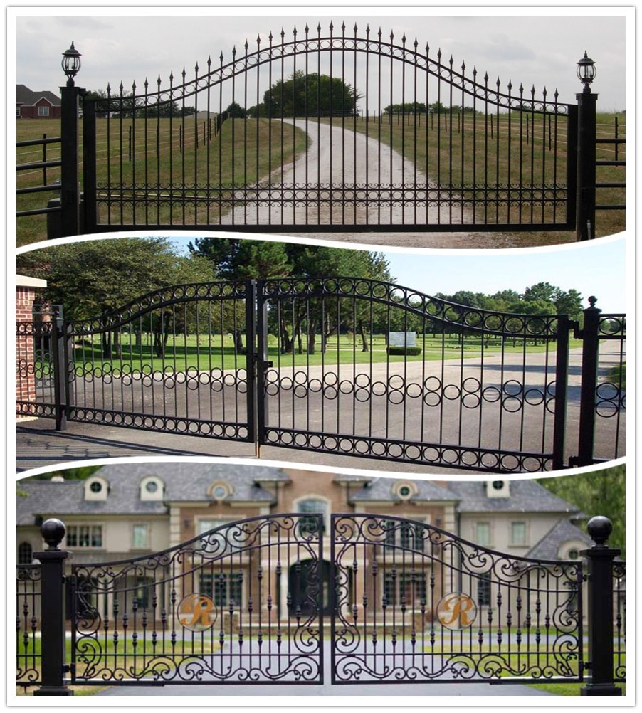 Factory Price Latest Cheap Modern Wrought Iron Gate/home Gate Arch ...