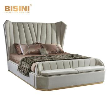 Italy Stylish Beige Leather/fabric King Size Bedroom Set Furniture/ New  Design High Quality Post-modern Bed For Home &hotel - Buy Italy Bedroom ...