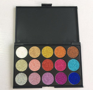 private label makeup palette waterproof 15 colors glitter eyeshadow