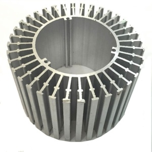 China Manufacturer Factory OEM Aluminum 6063 Extruded Heatsink with gloss silver anodized