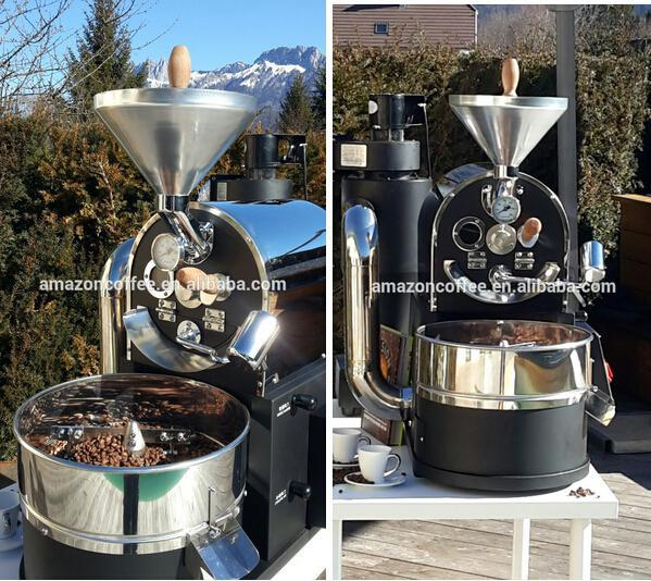 Automatic 1kg Shop Coffee Roaster Electric Commercial Industrial Coffee  Roaster