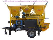 continuous concrete batching mixer pump plant for road construction