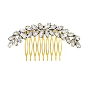 Trendy rhinestone hair pins comb wedding elegant hair accessories beautiful hair ornament