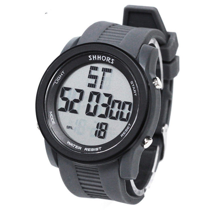 China Supplier Black  Logo Watch Custom Mens Relogio Watch digital sport Engrave Watches  rubber  big case dial