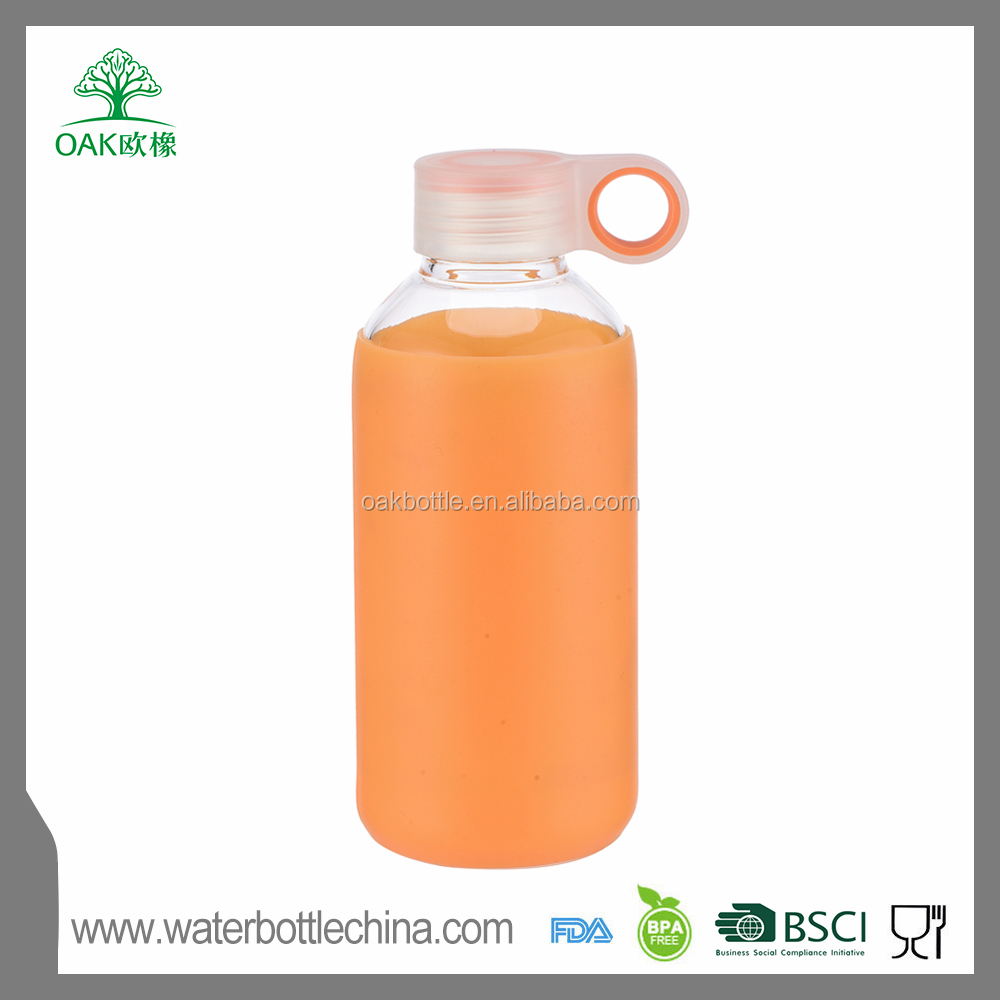 wholesale 500ml clear glass bottle glass bottle factory glass roller bottle