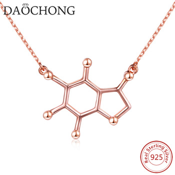 6f2b1427c1175 Sterling Silver Chemistry Necklace,Serotonin Molecule Necklace  Pendant,Serotonin Necklace - Buy Chemistry Pendant,Serotonin Molecule  Pendant,Sterling ...