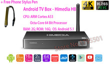 2015 HIMEDIA H8 Octa-Core Chips Android TV Box, 2GB RAM 16GB ROM, Home TV Network Player, 3D 4K UHD Set-Top Box Sell to Overseas