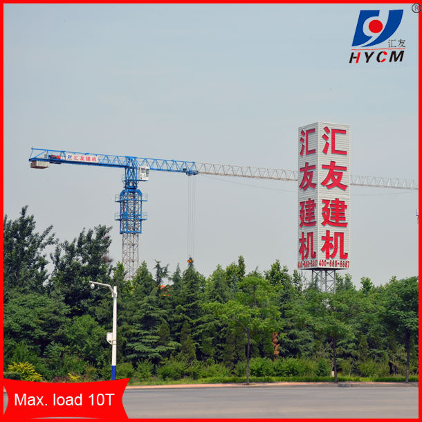 Max. 10T, 60m Jib Flat-head Crane Tower with detailed specification