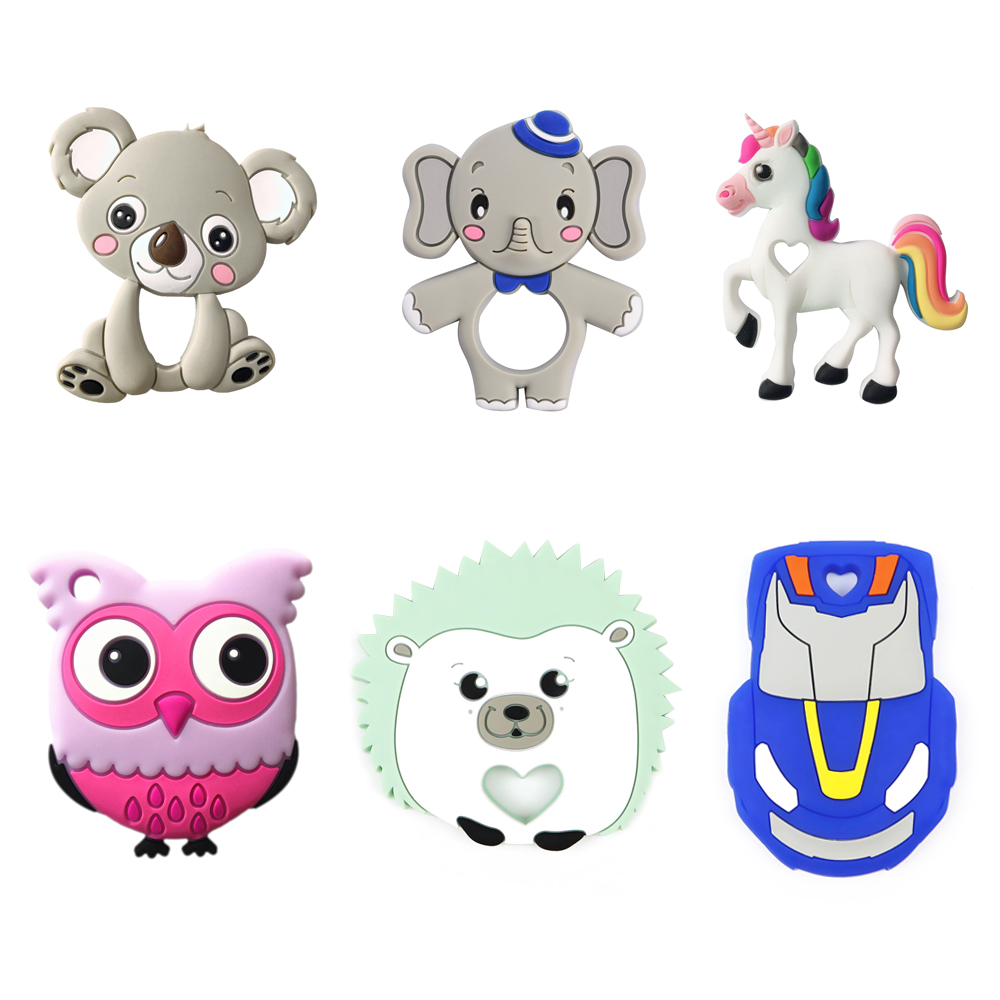 New Arrival Non-toxic Chewable FDA Approval baby koala teether silicone