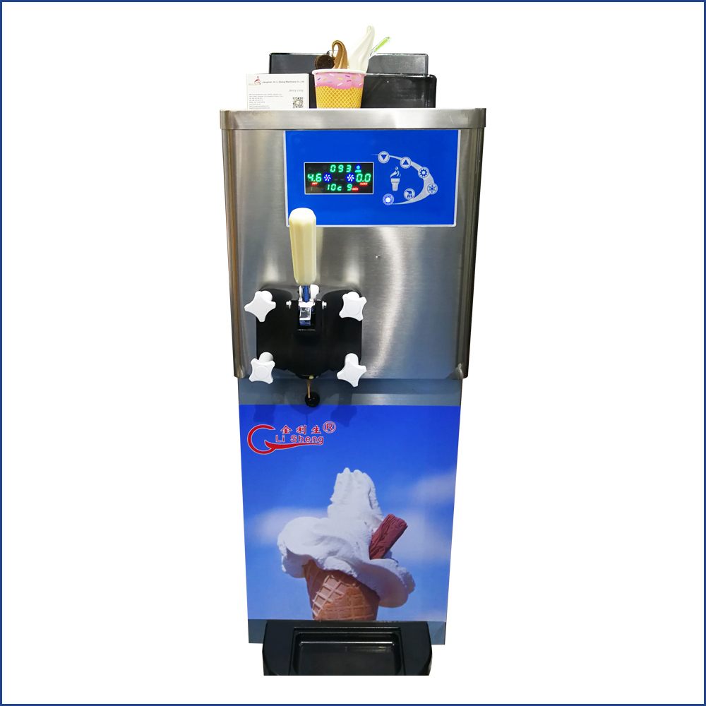 China Manufacturer Hourly 40 Liters 6 Flavor Commercial Soft Ice Cream Machine For Sale
