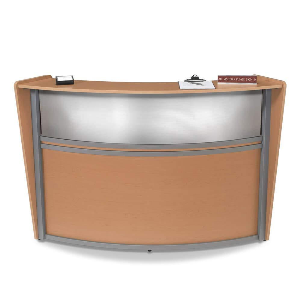 Office Reception Desk - Receive Small Curved Reception Desk