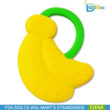 wholesale funny silicone baby fruit shape banana teether teething toys for babies