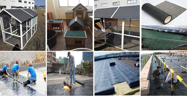 SBS Gummi Foundation Wasserdichte Membran Dach Unterlage Bitumen Fühlte