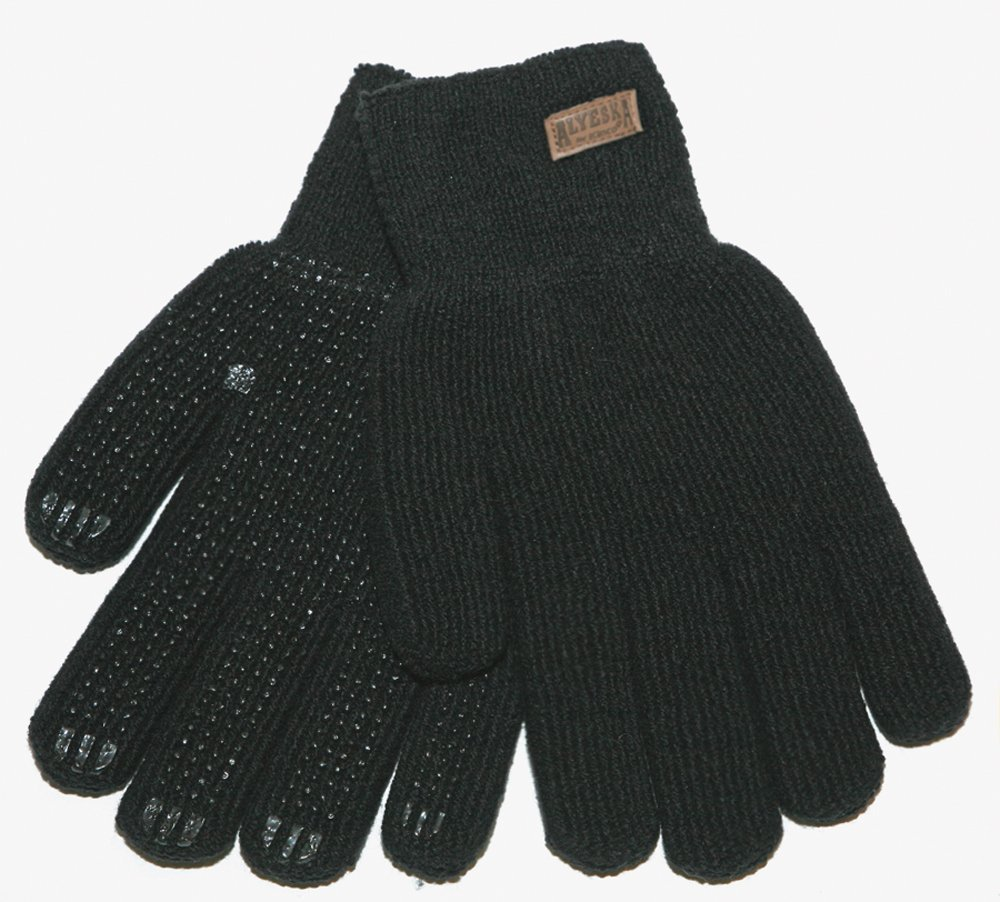 Grey Kinco 5298 Alyeska Unlined Ragg Wool Full Finger Glove with PVC Grip Dots