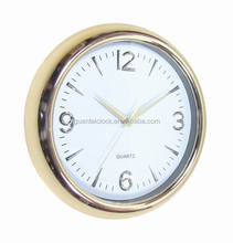 Multifunction Desk Clock Wall Clock White Backboard with Gold Chrome Frame for Sales