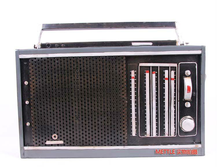 8038 Wrought iron,German old radios, portable model decorations