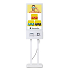 food ordering machine indoor restaurant order device with POS system and bill printer touch screen
