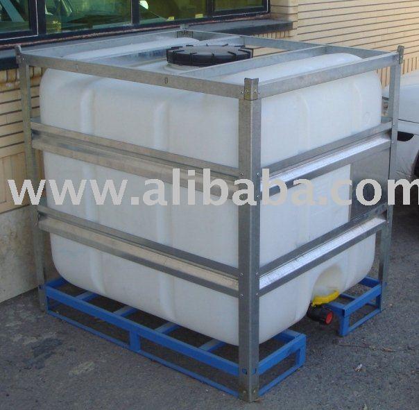 Ibc modular tanque 1000 litros com galvanizado gaiola Estanque ibc 1000 litros